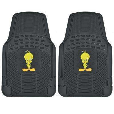 Looney Tunes WBMT-1172 Tweety Bird 2 Pieces Rubber Car Floor Mats