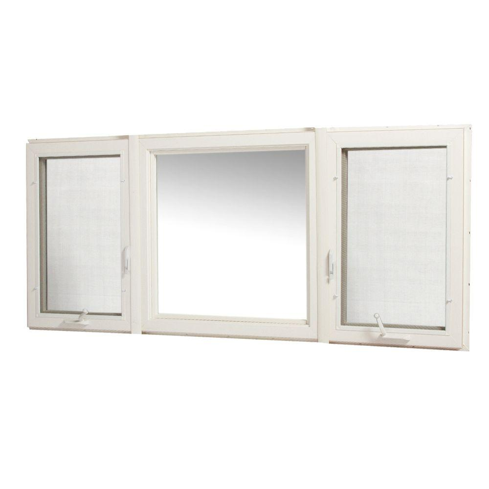 TAFCO WINDOWS 83 in. x 36 in. Vinyl Casement Window with Screen - White