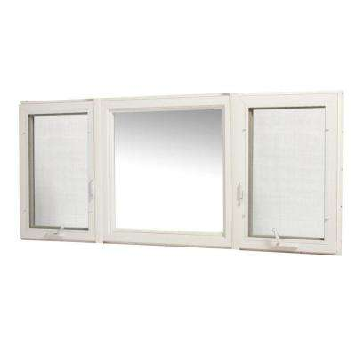 83 in. x 36 in. Vinyl Casement Window with Screen - White