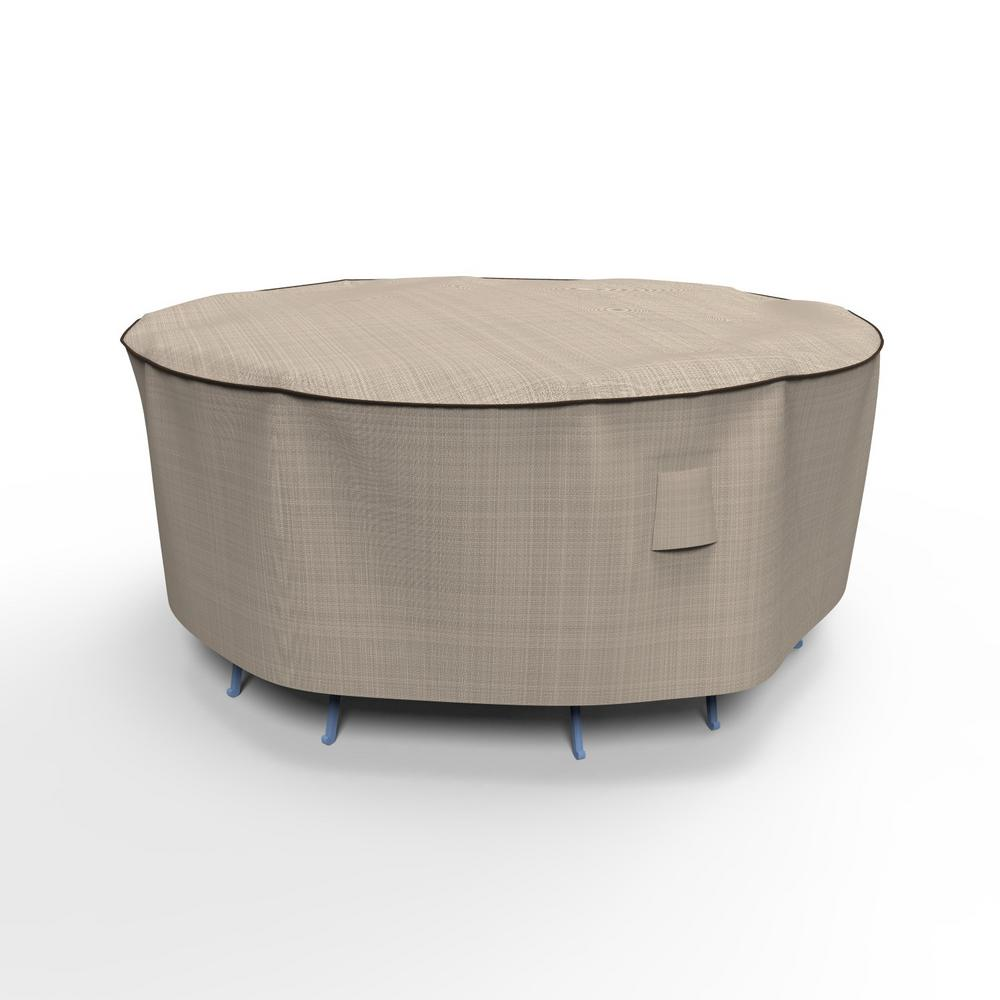 Budge English Garden Small Round Patio Table and Chairs Combo Covers