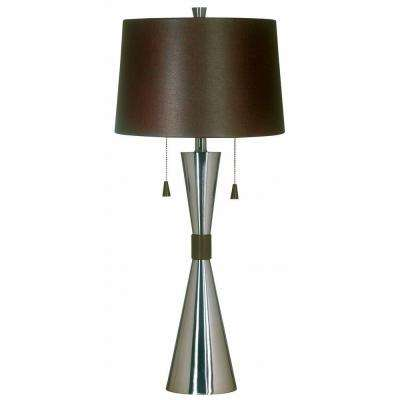 Bella 32 in. Brushed Steel Table Lamp