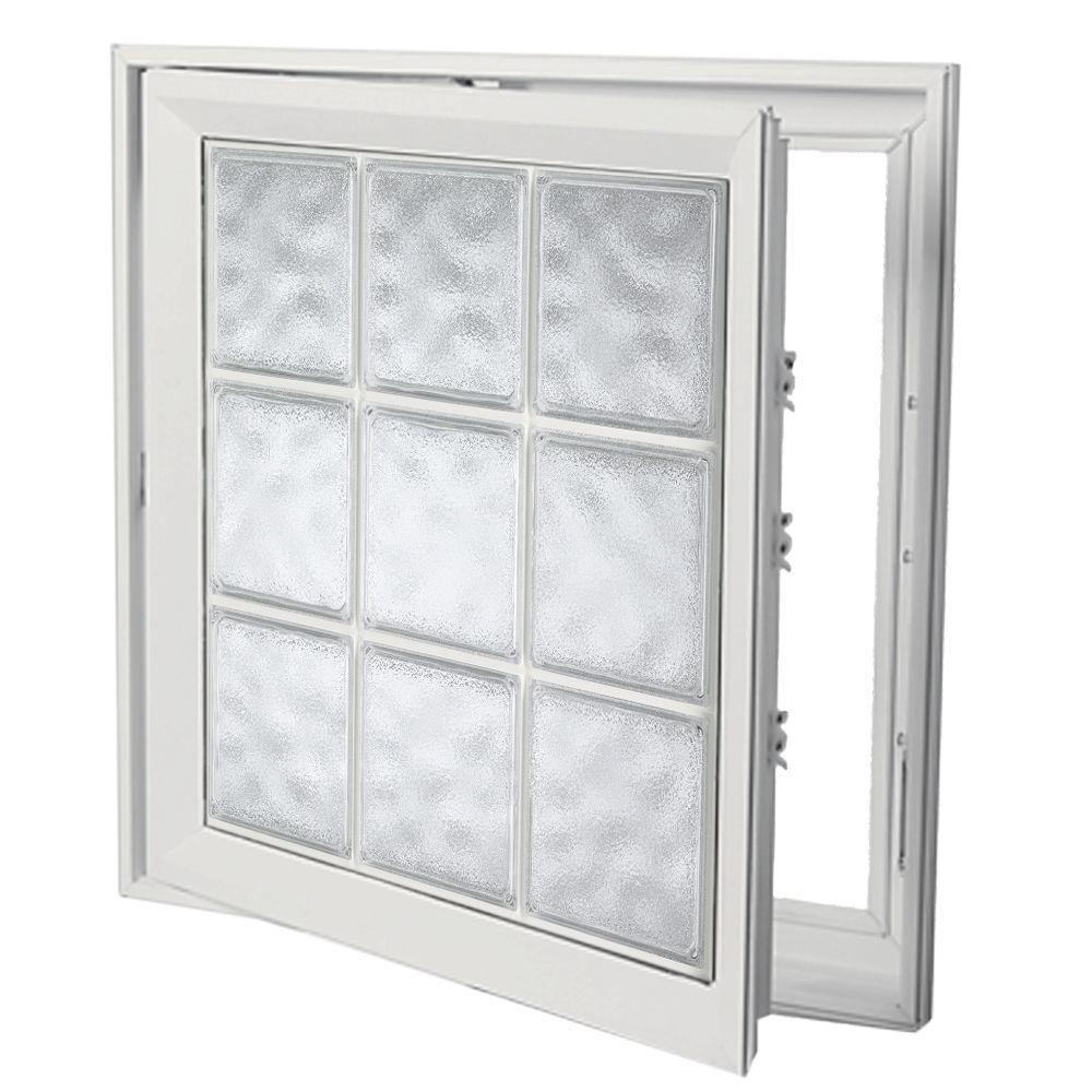 Hy-Lite 21 in. x 53 in. Acrylic Block Right Casement Vinyl Window - White
