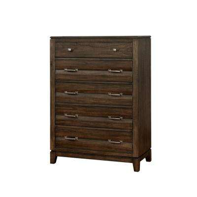 Agapetos Walnut Transitional Style Chest