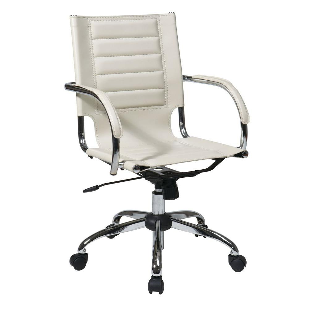 Ave Six Trinidad Red Vinyl Office Chair-TND941A-RD - The Home Depot