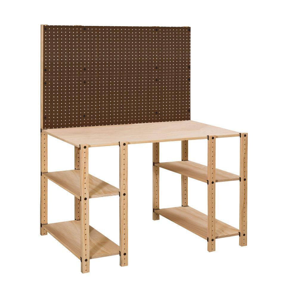 Adeptus Versa 3 N 1 Unfinished Wooden Work Space Unit