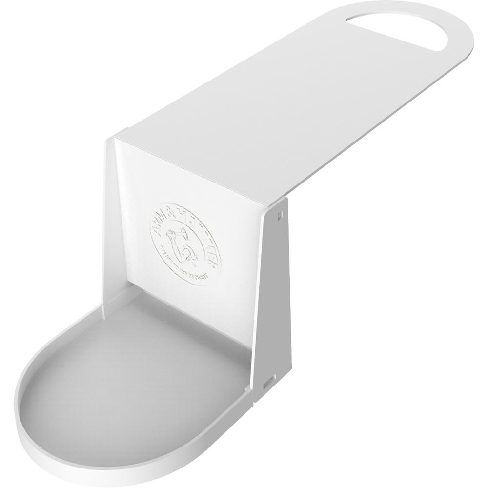 Arm & Hammer Flat Folding Laundry Detergent Cup Caddy, White