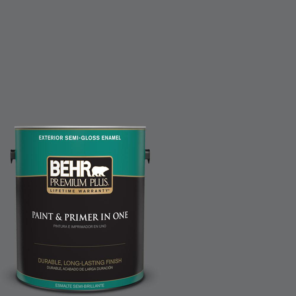 BEHR Premium Plus 1-gal. #770F-5 Dark Ash Semi-Gloss Enamel Exterior Paint
