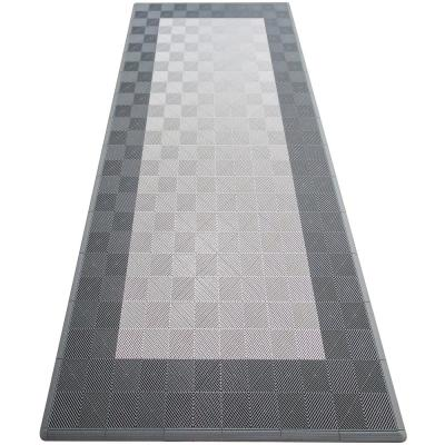 Silver and Grey Single Car Pad Ribtrax Modular Tile Flooring (134 sq. ft./case)
