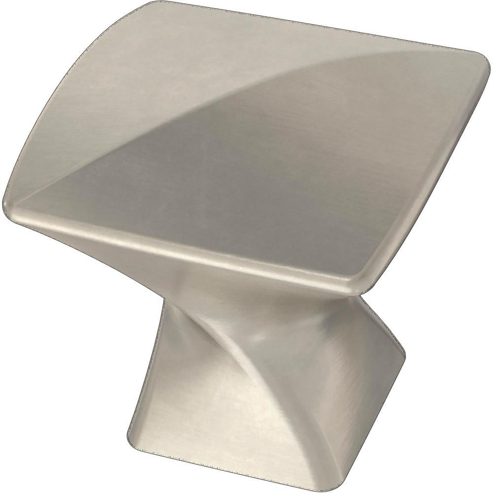 Modern Twist 1-3/16 in. (30 mm) Satin Nickel Cabinet Knob