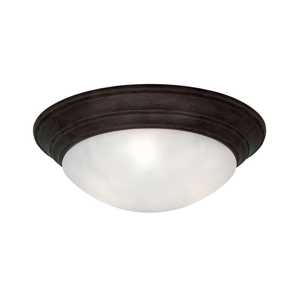 Clovis Collection 2-Light Oil Rubbed Bronze Ceiling Flushmount