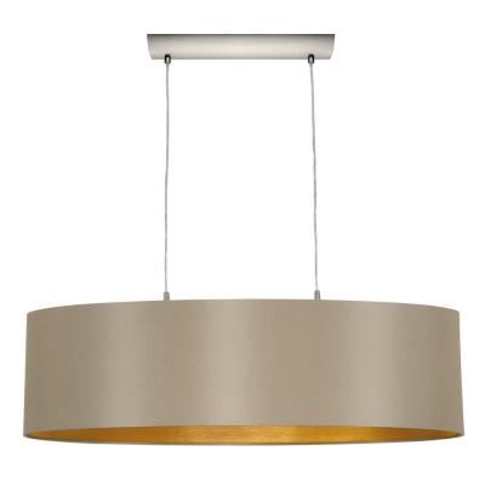 Maserlo 2-Light Matte Nickel Pendant