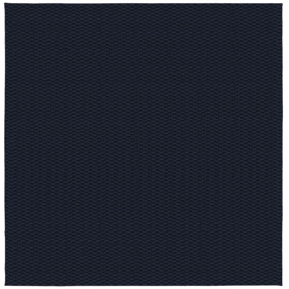 Garland Rug Medallion Navy 12 ft. x 12 ft. Square Area Rug