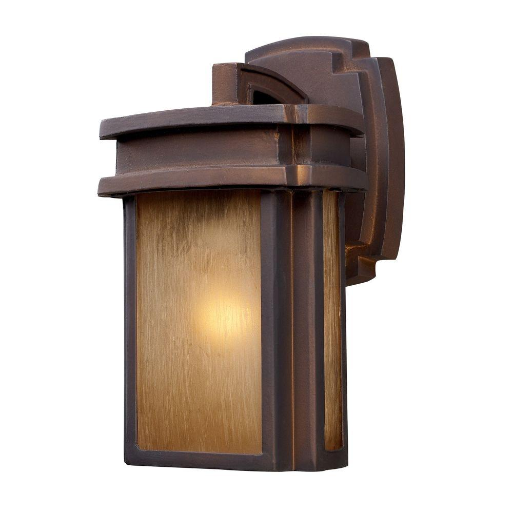 Titan Lighting Sedona Outdoor Clay Bronze Wall Sconce
