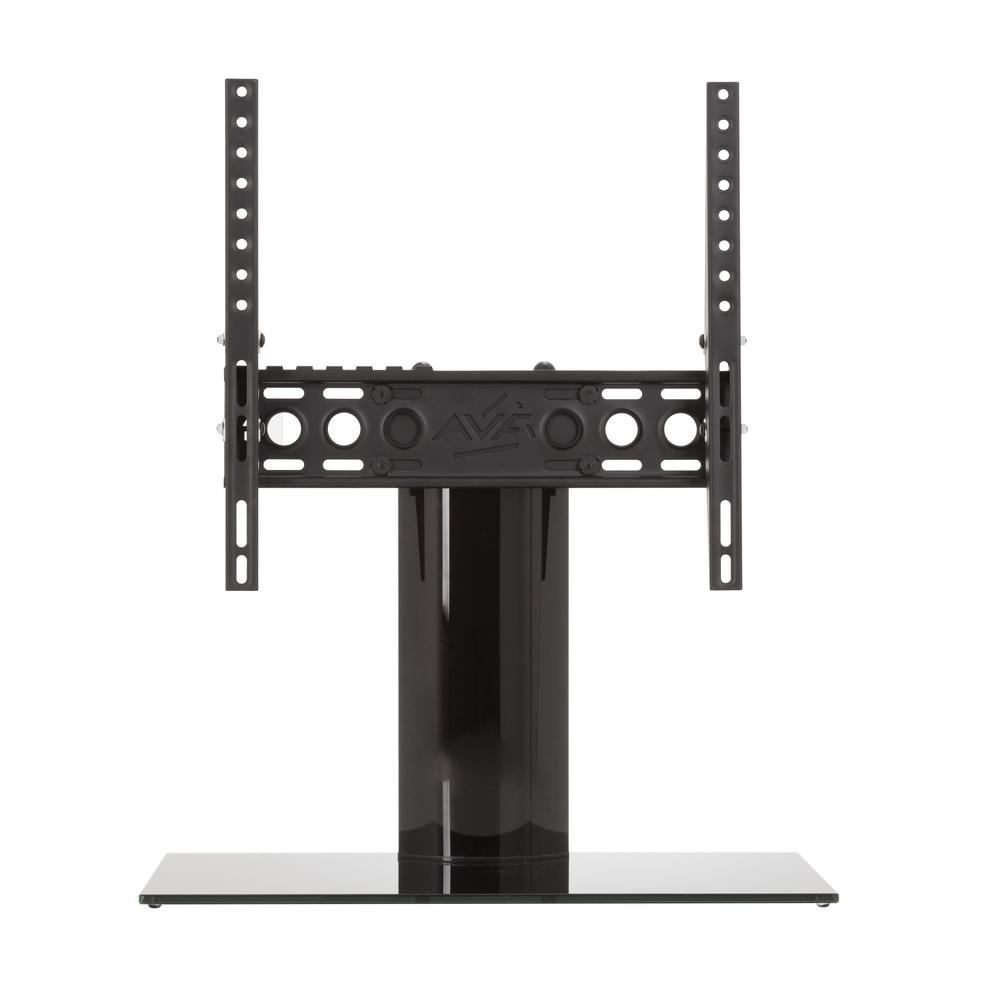 Universal Table Top TV Stand/Base Adjustable Tilt for Most TVs 37 in. to 55 in., Black/Black