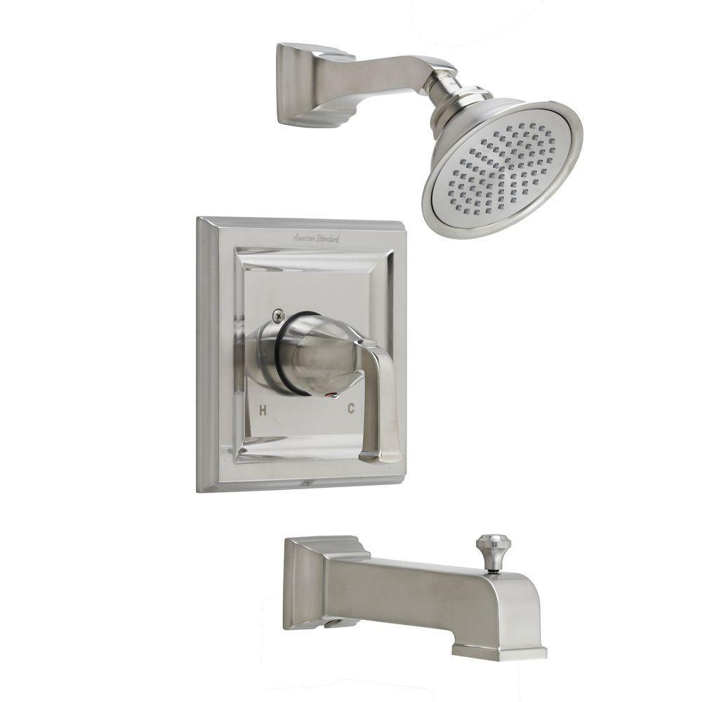 American Standard Town Square 1-Handle Tub and Shower Trim Kit with Volume Control in Brushed Nickel (Valve Sold Separately)