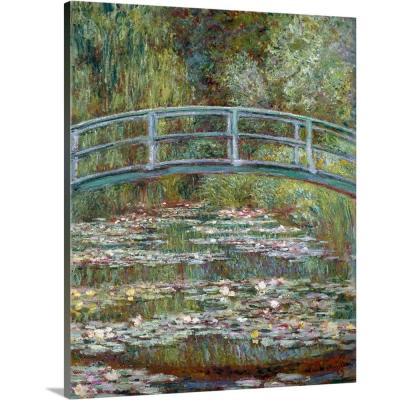 """Bridge over a Pond of Water Lilies"" by Claude Monet Canvas Wall Art"