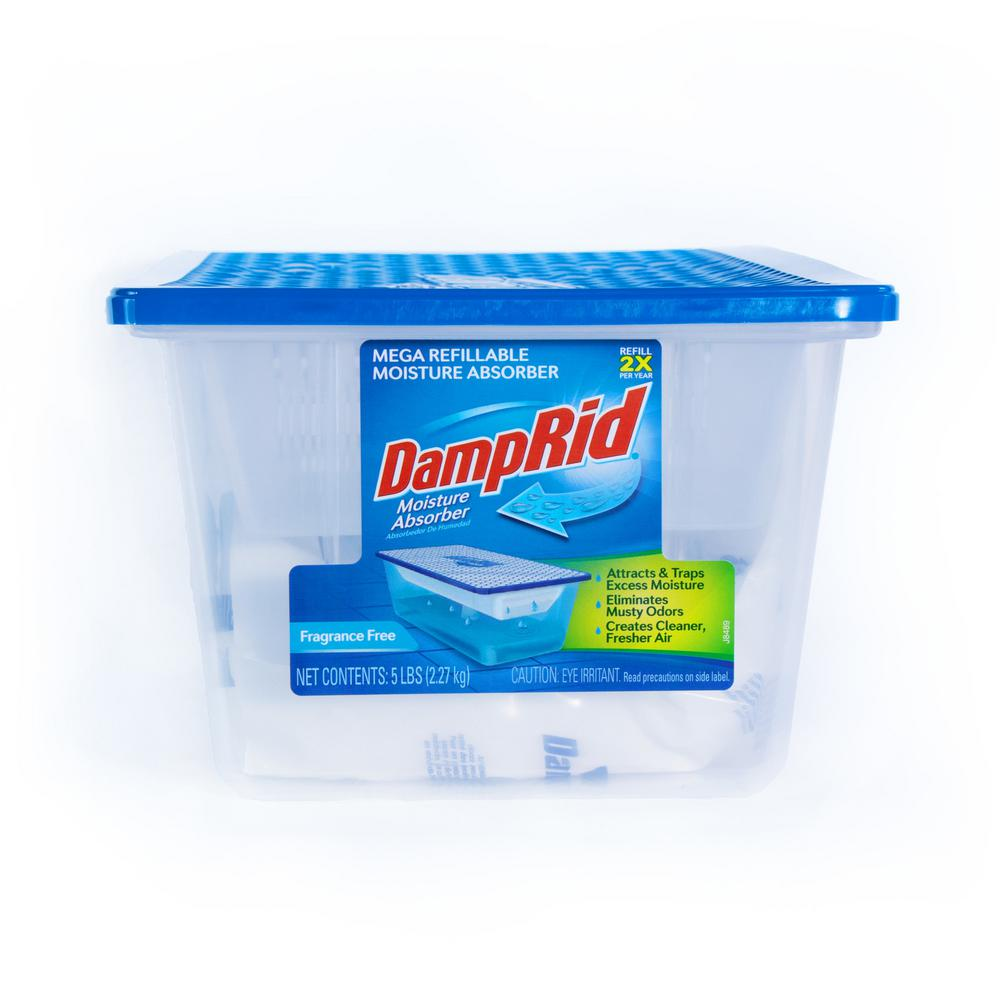 DampRid 5 lb Fragrance Free Refillable Moisture Absorber