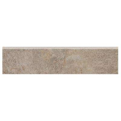 Longbrooke Weathered Slate 3 in. x 12 in. Ceramic Floor and Wall Bullnose Tile