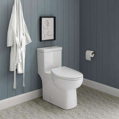 Classe 1-Piece 0.8 GPF/1.28 GPF Dual Flush Elongated Toilet in White, Seat Included