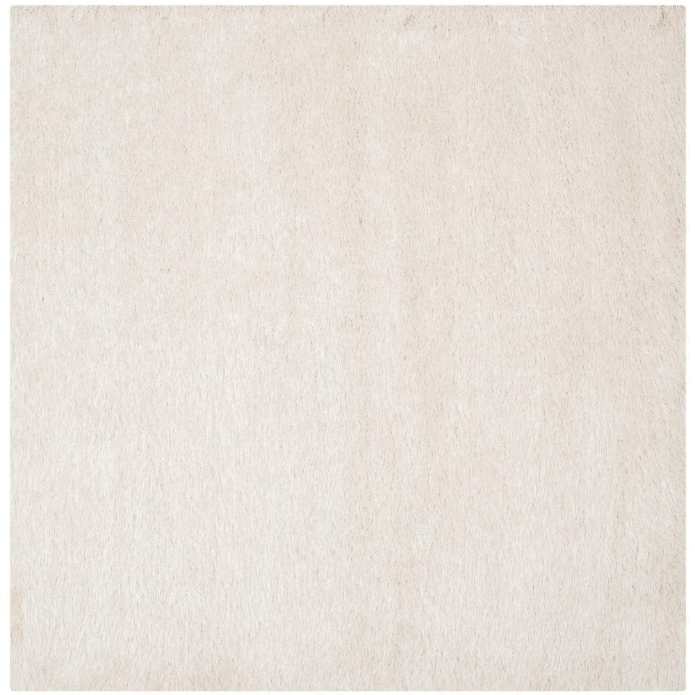 Safavieh Venice Shag Pearl 8 Ft X 8 Ft Square Area Rug Sg256p 8sq The Home Depot