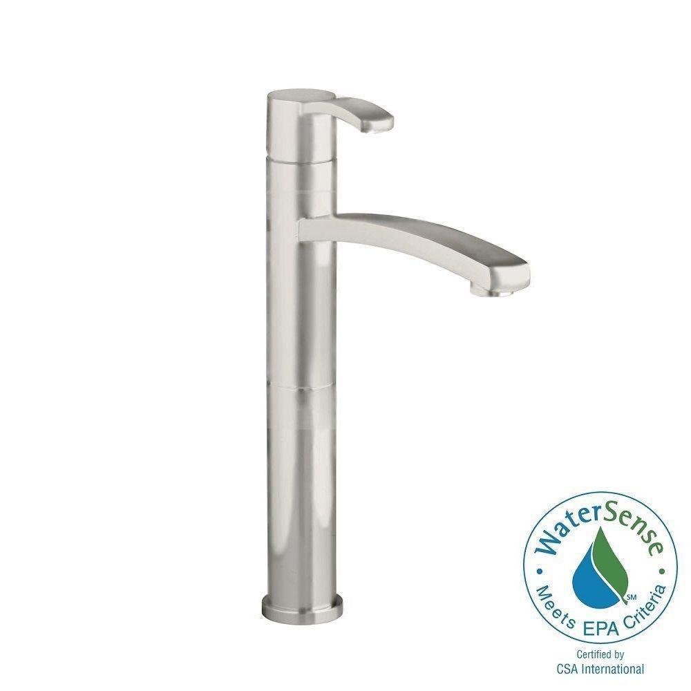 Berwick Single Hole Single-Handle Low-Arc Vessel Bathroom Faucet in Brushed Nickel