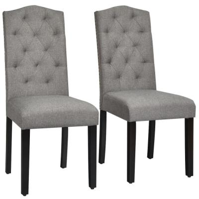Tufted Dining Chairs Kitchen Dining Room Furniture The Home Depot