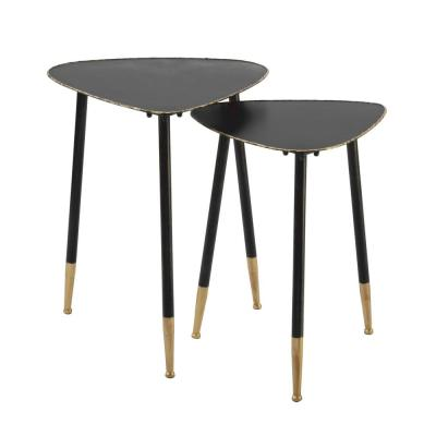 Triangle Black Metal Nesting Tables (Set of 2)