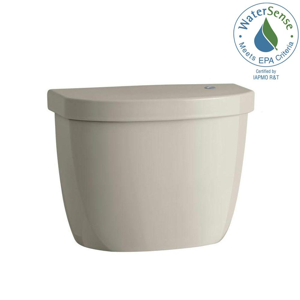Cimarron Touchless 1.28 GPF Single Flush Toilet Tank Only in Sandbar