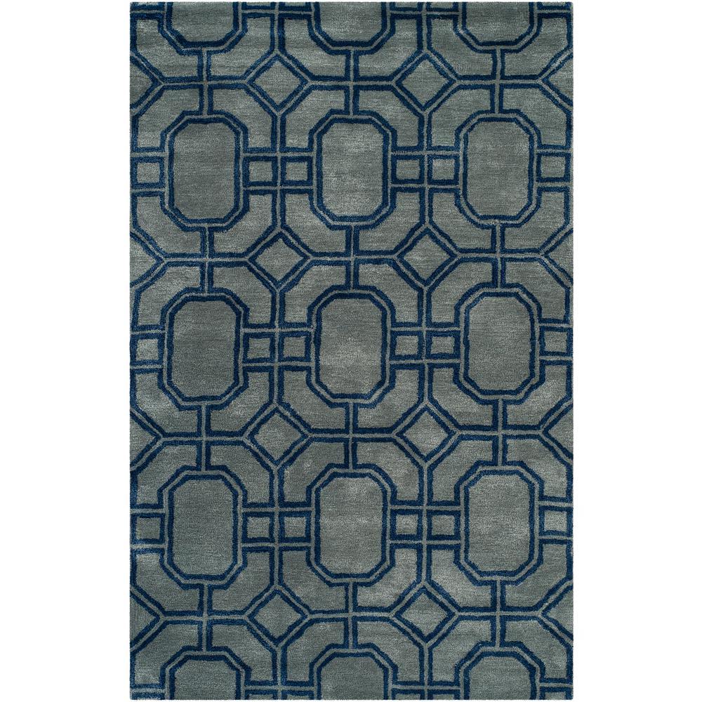 Safavieh Soho Gray/Dark Blue 5 ft. x 8