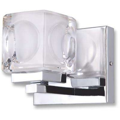 Nevada 1-Light Chrome finish Bath Light