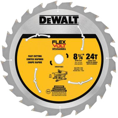 FLEXVOLT 8-1/4 in. 24-Teeth Carbide-Tipped Table Saw Blade
