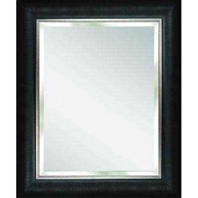 Alderton 28.5 in. x 34.5 in. Mirror in Black and Silver