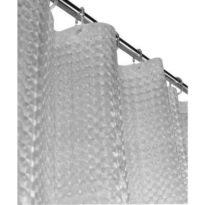 Mirage 72 in. Clear 3D Shower Curtain
