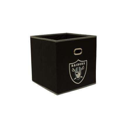Oakland Raiders NFL Store-Its 10-1/2 in. W x 10-1/2 in. H x 11 in. D Black Fabric Drawer