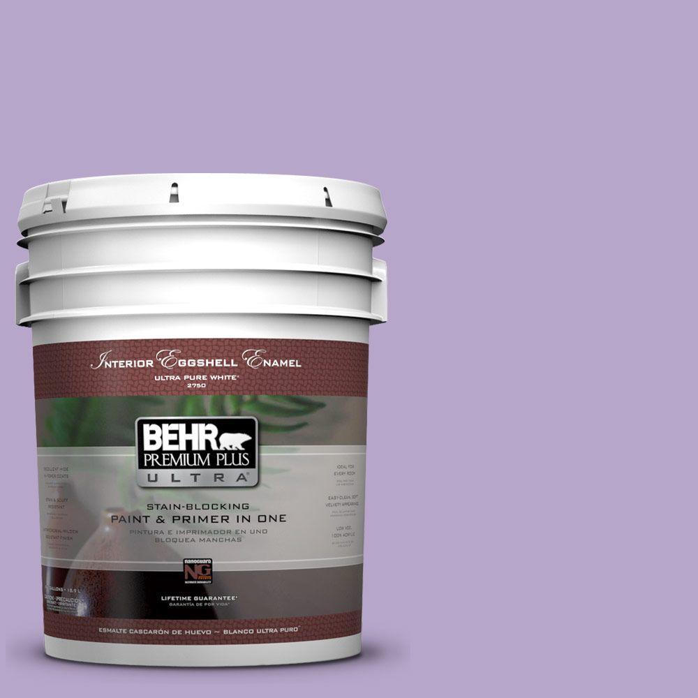 BEHR Premium Plus Ultra 5 gal. #650B-4 Violet Fields Eggshell Enamel Interior Paint and Primer in One
