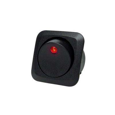 Illuminated LED 12-Volt DC/25 Amp Rocker Switch, Red