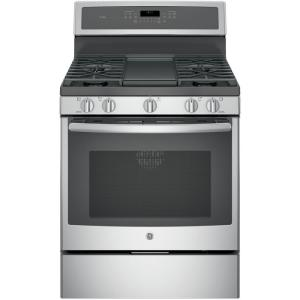 GE Profile 30 inch 5.6 cu. ft. Gas Range with Self-Cleaning Convection Oven in... by GE Profile