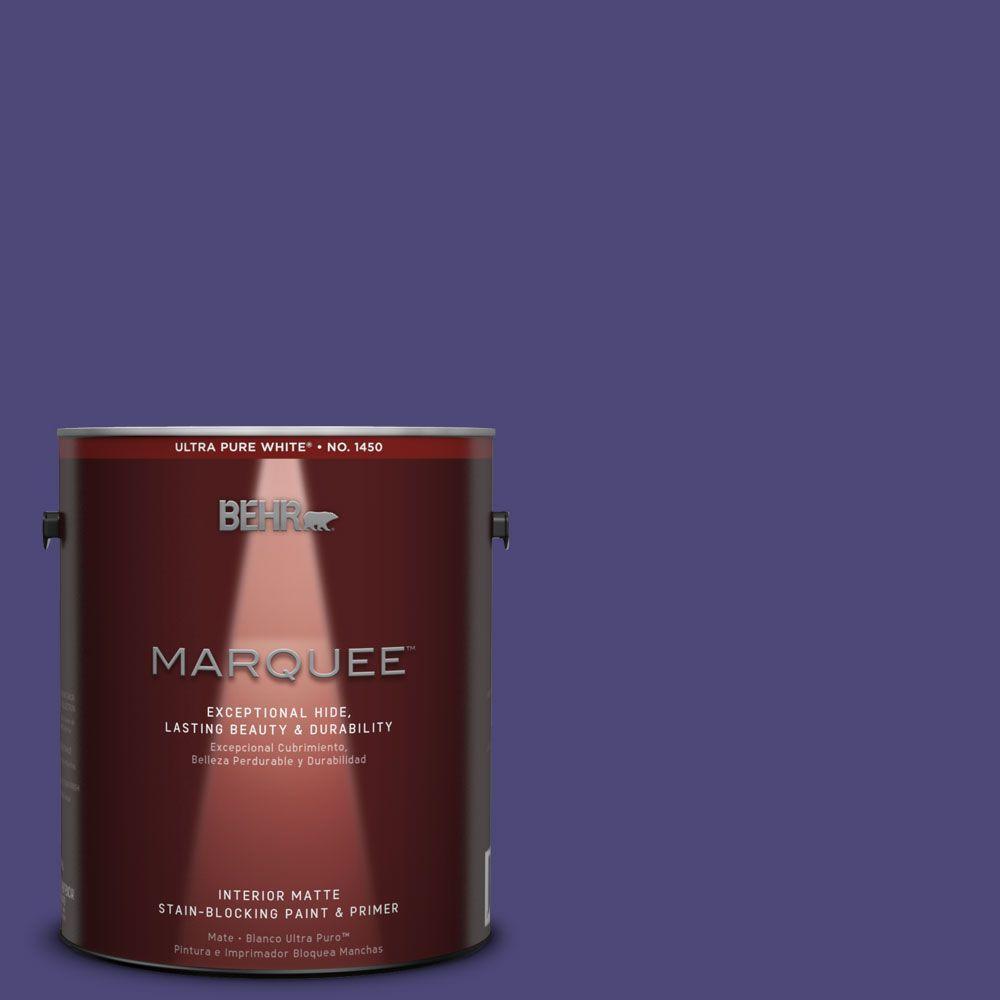 BEHR MARQUEE 1 gal. #MQ5-43 Dramatist One-Coat Hide Matte Interior Paint