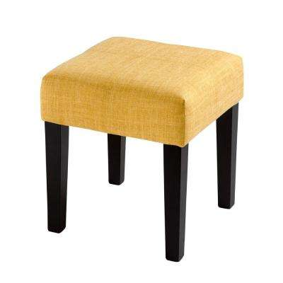 "Antonio 16"" Square Bench in Yellow Fabric"