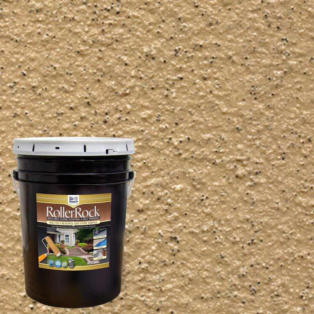 DAICH RollerRock 5 Gal. Self-Priming Harvest Tan Exterior Concrete Coating