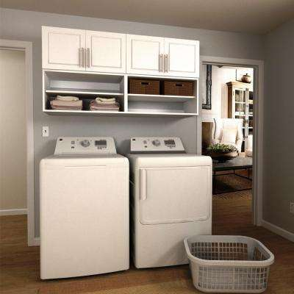 Madison 60 in. W White Open Shelves Laundry Cabinet Kit