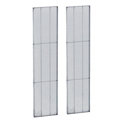60 in. H x 13.5 in. W Pegboard Clear Styrene One Sided Panel (2-Pieces per Box)