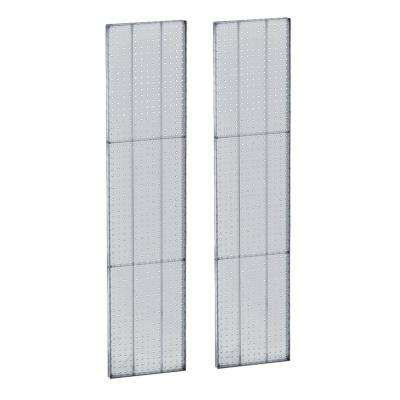 60 in. H x 13.5 in. W Pegboard Clear Styrene One Sided Panel