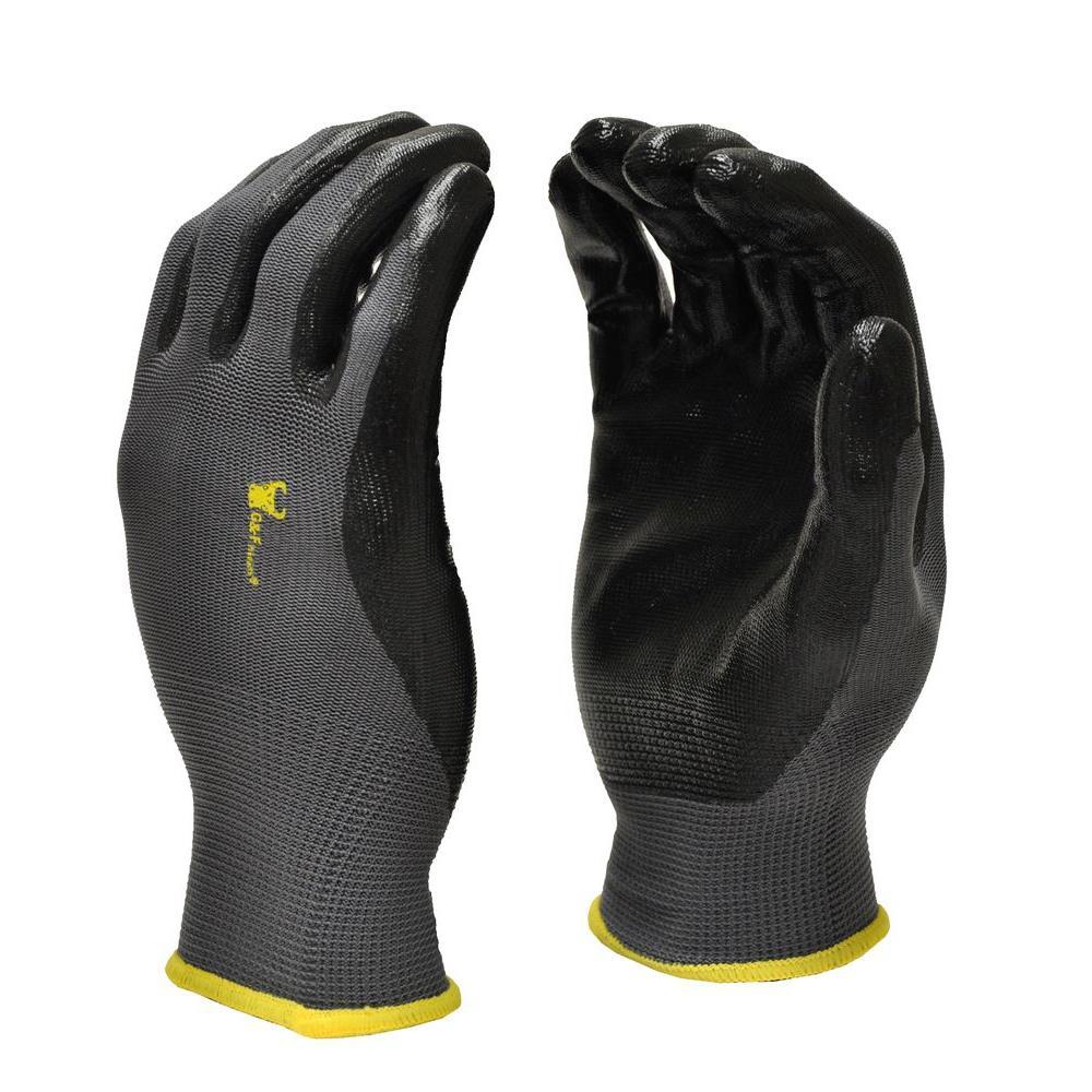 Seamless Knit Medium Black Nitrile Coated Work Gloves (300-Case)