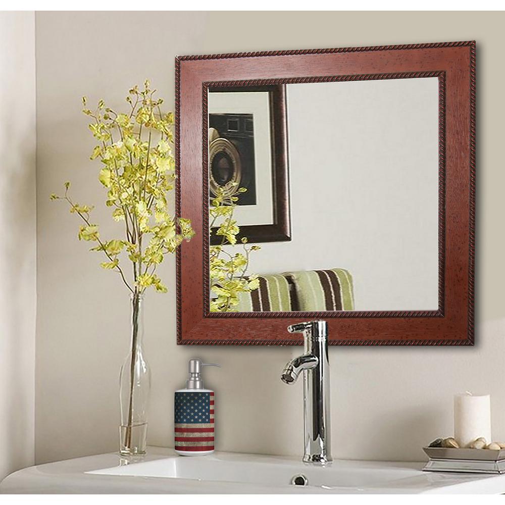 20.5 in. x 20.5 in. Western Rope Square Vanity Wall Mirror