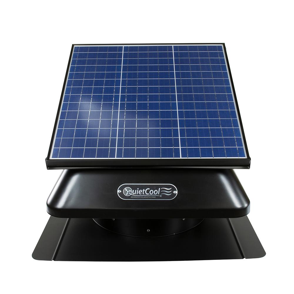 Quietcool 40 Watt Hybrid Solar Electric Powered Roof Mount Attic Fan With Included Inverter Afr Slr 40 The Home Depot