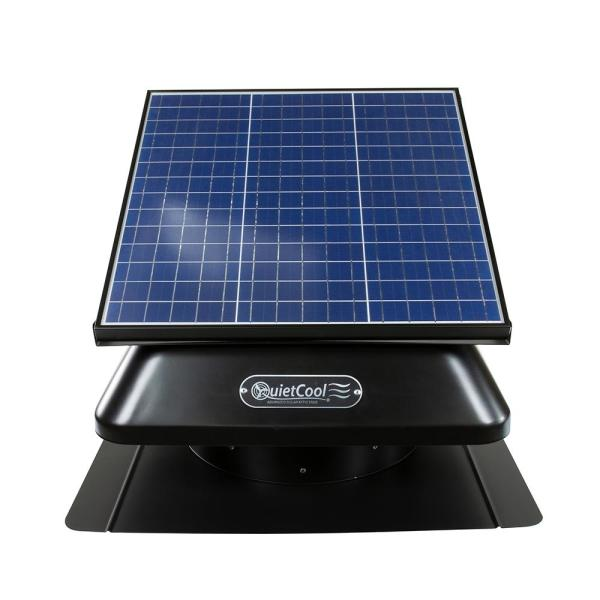 40-Watt Hybrid Solar/Electric Powered Roof Mount Attic Fan with Included Inverter