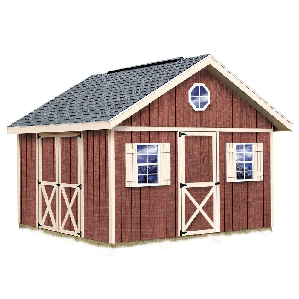 Fairview 12 ft. x 12 ft. Wood Storage Shed Kit, Clear
