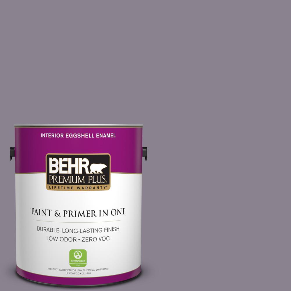 BEHR Premium Plus 1-gal. #670F-5 Gothic Amethyst Zero VOC Eggshell Enamel Interior Paint
