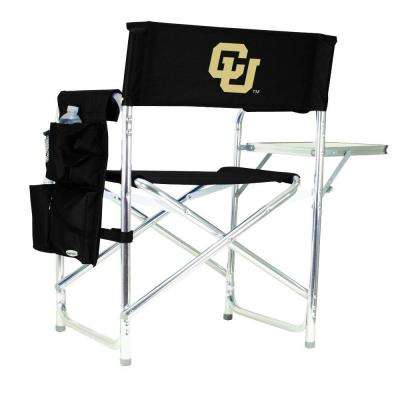 University of Colorado Black Sports Chair with Embroidered Logo